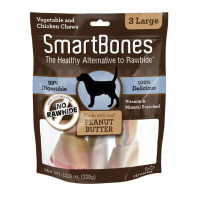 Smart Bone Peanut Butter Large, 3 Count Package