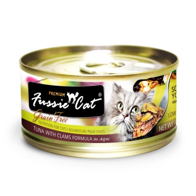 Fussie Cat Tuna & Clam Can Cat Food 2.8 oz 24 Count Case