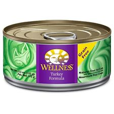 Wellness Turkey Pate Grain Free Canned Cat Food 5.5oz, Case of 24