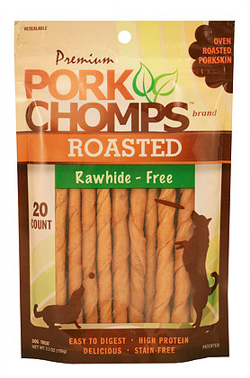 Pork Chomps Roasted Twistz, 20 Count Package