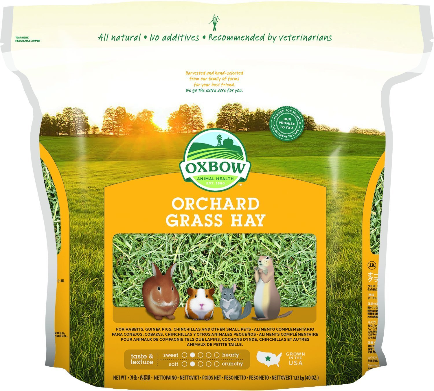 Oxbow Animal Health Orchard Grass Hay For Pets 40oz