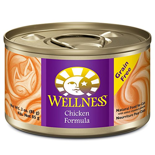 Wellness Chicken Pate Grain Free Canned Cat Food 5.5oz, Case of 24