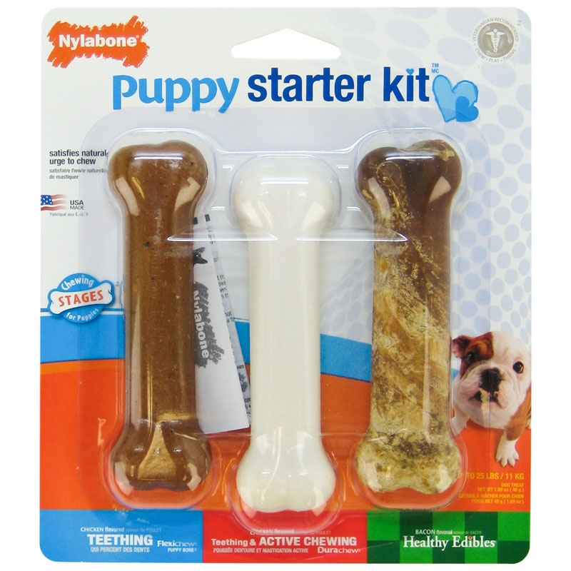 Nylabone Puppy Starter Kit 3pk Regular