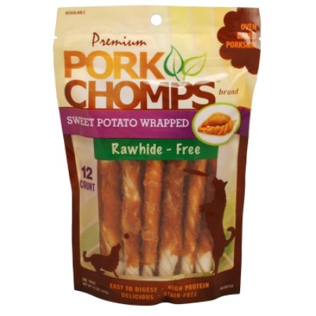 Pork Chomps Premium Sweet Potato Twist 12 Count