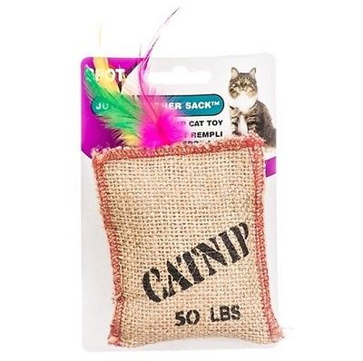 Ethical Jute and Feather Catnip Sack