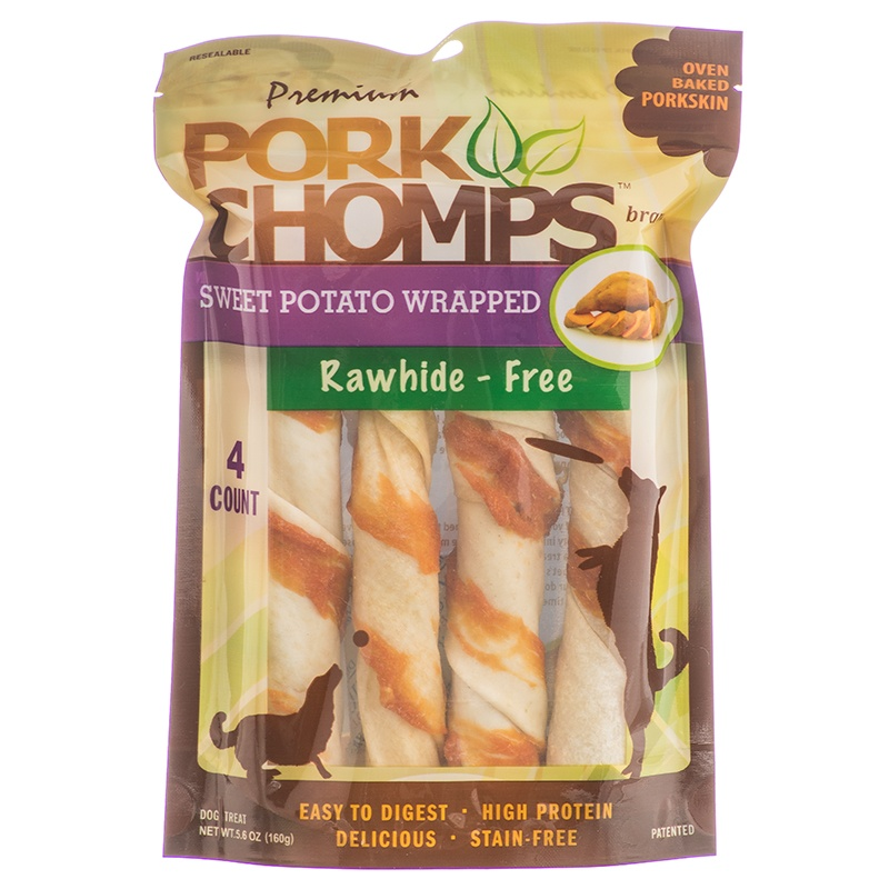 Pork Chomps Premium Sweet Potato Twists 4 Count