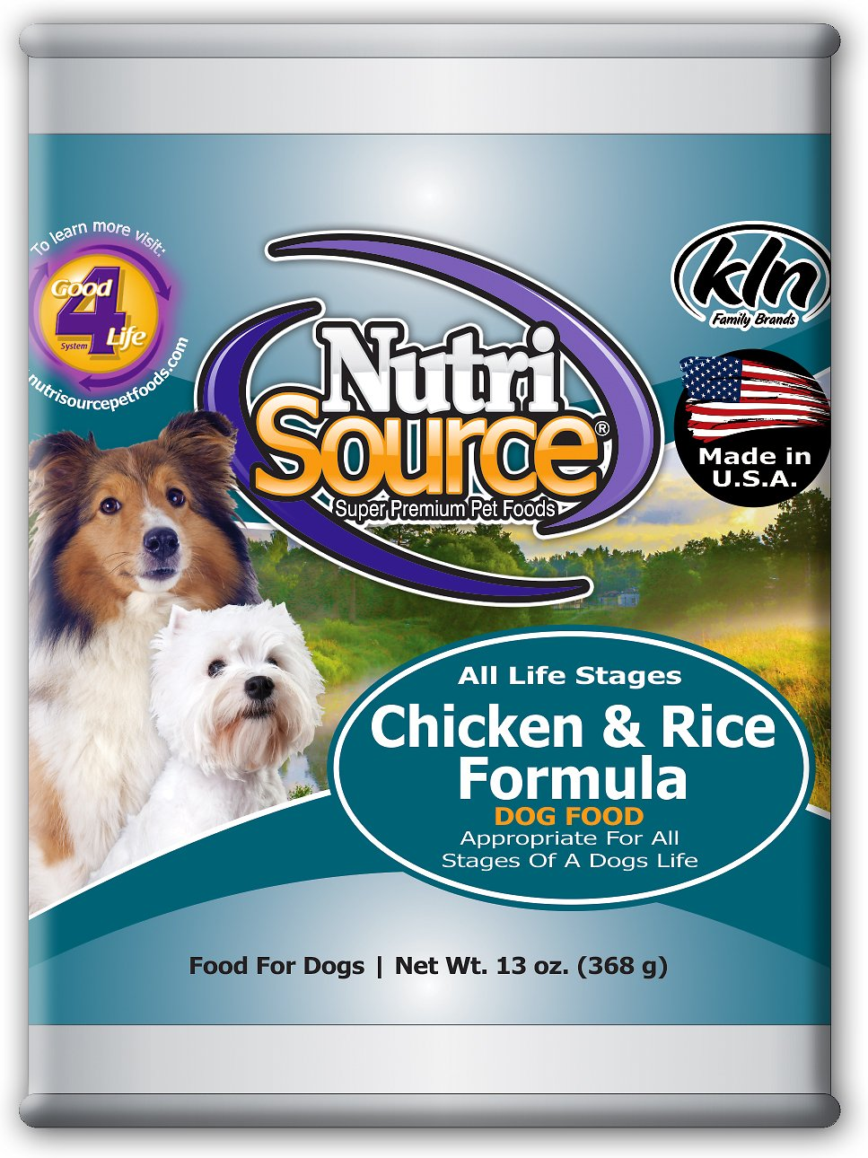 Nutri Source Chicken and Rice Dog Food 13oz 12 Count Case