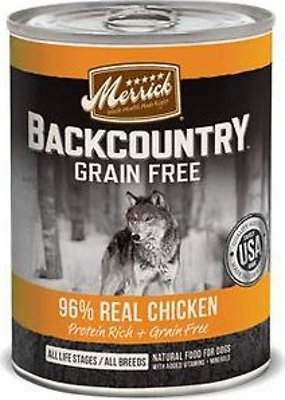 Merrick Backcountry 96% Chicken 12.7oz 12 Count Case
