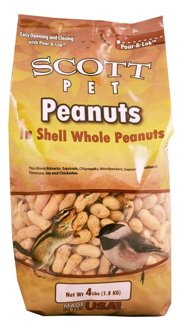 Scott Pet Peanuts Polybag 4 lb