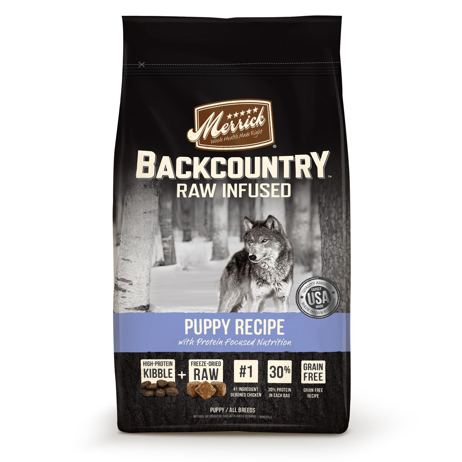 Merrick Backcountry Grain Free Raw Infused Puppy 4lb
