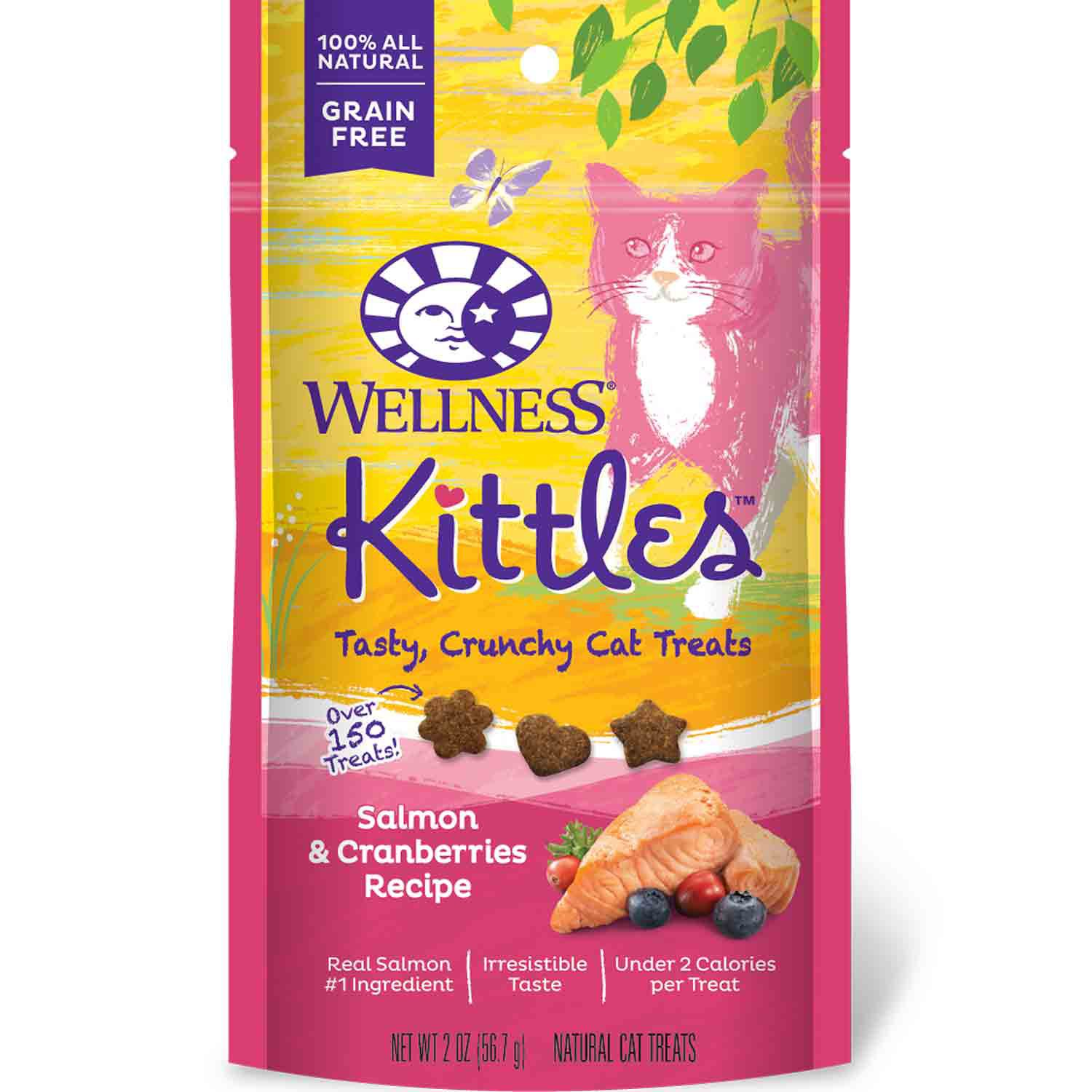 Wellness Grain Free Salmon and Cranberry Kittles 2oz