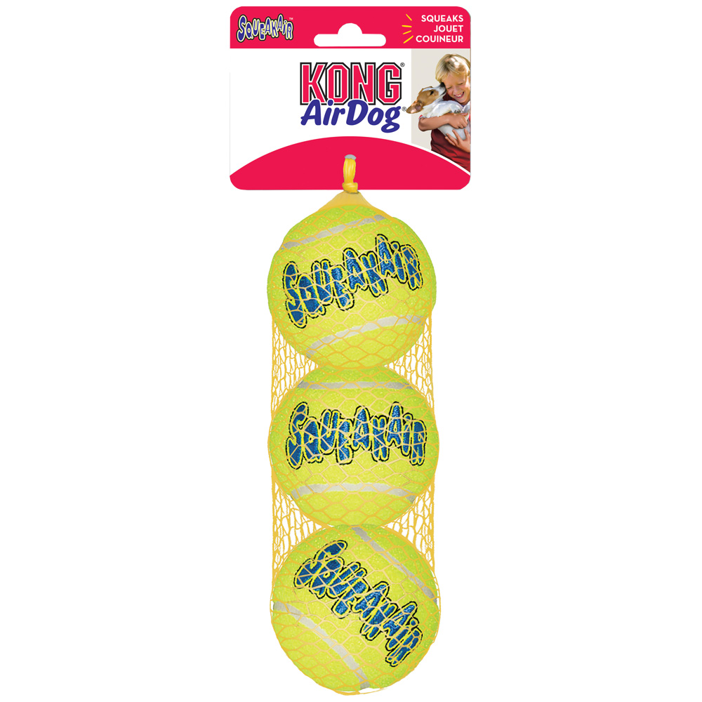 Kong Air Dog Squeaker Tennis Ball Small 3 pk