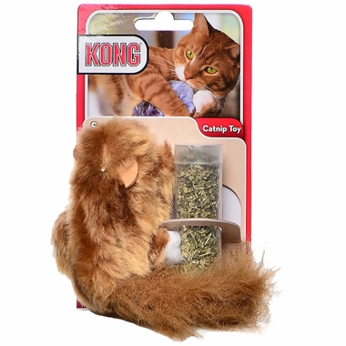 Kong Refillable Catnip Toy Squirrel
