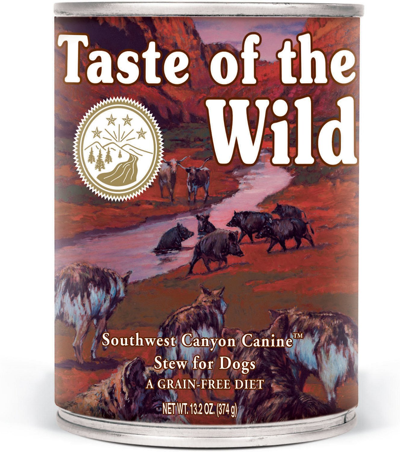 Taste of the Wild Southwest Canyon Grain-Free Beef in Gravy Dog Food, 13.2 oz., Case of 12