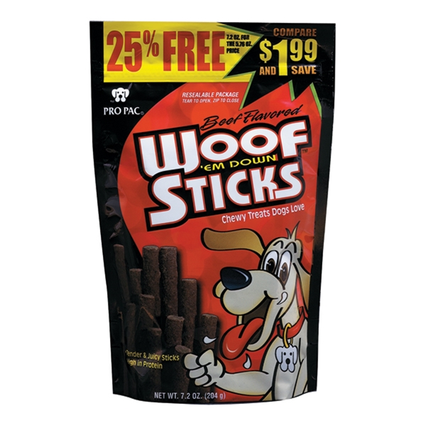 Pro Pac Woof Em Down Chewy Dog Treats 7.2oz
