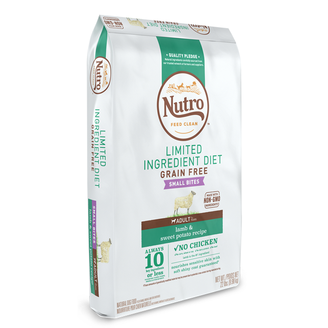 NUTRO LID SMALL BITE LAMB 4LB
