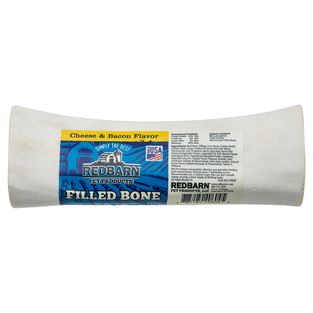 Redbarn Cheese and Bacon Filled Bone, Large