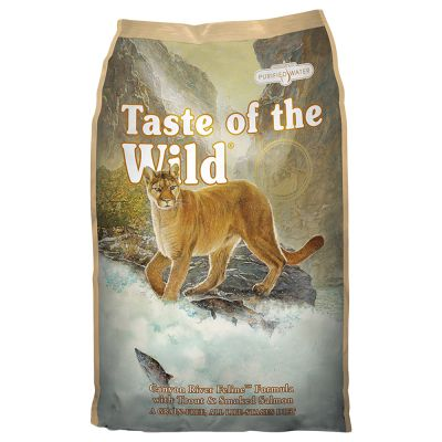 Taste of the Wild Canyon River Grain-Free Trout & Smoked Salmon Dry Cat Food, 5lbs