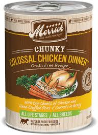 Merrick Chunky Colossal Chicken Dinner 12.8oz 12 Count Case