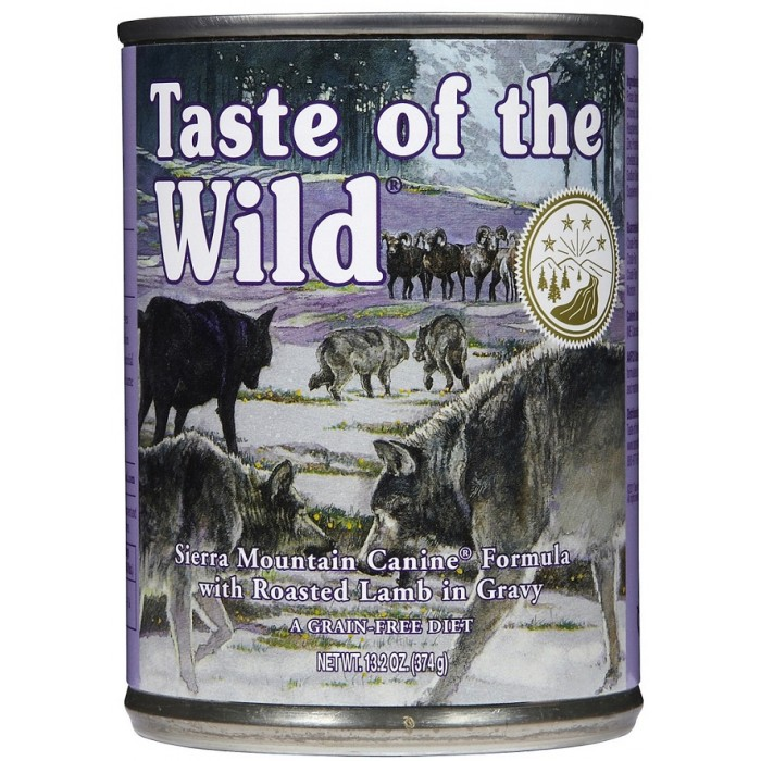 Taste of the Wild Sierra Mountain Grain-Free Roasted Lamb in Gravy Dog Food, 13.2 oz., Case of 12