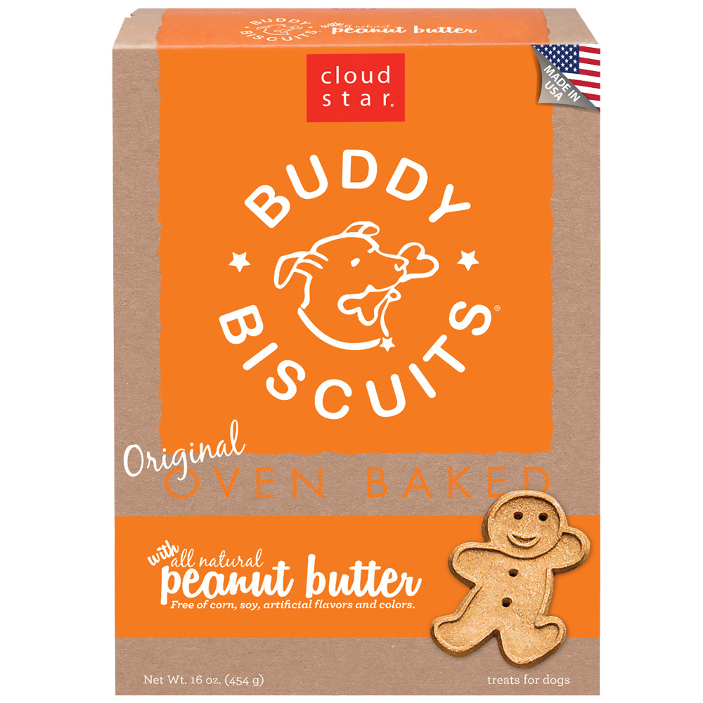 Buddy Biscuits with Homestyle Peanut Butter Dog Treats 16oz