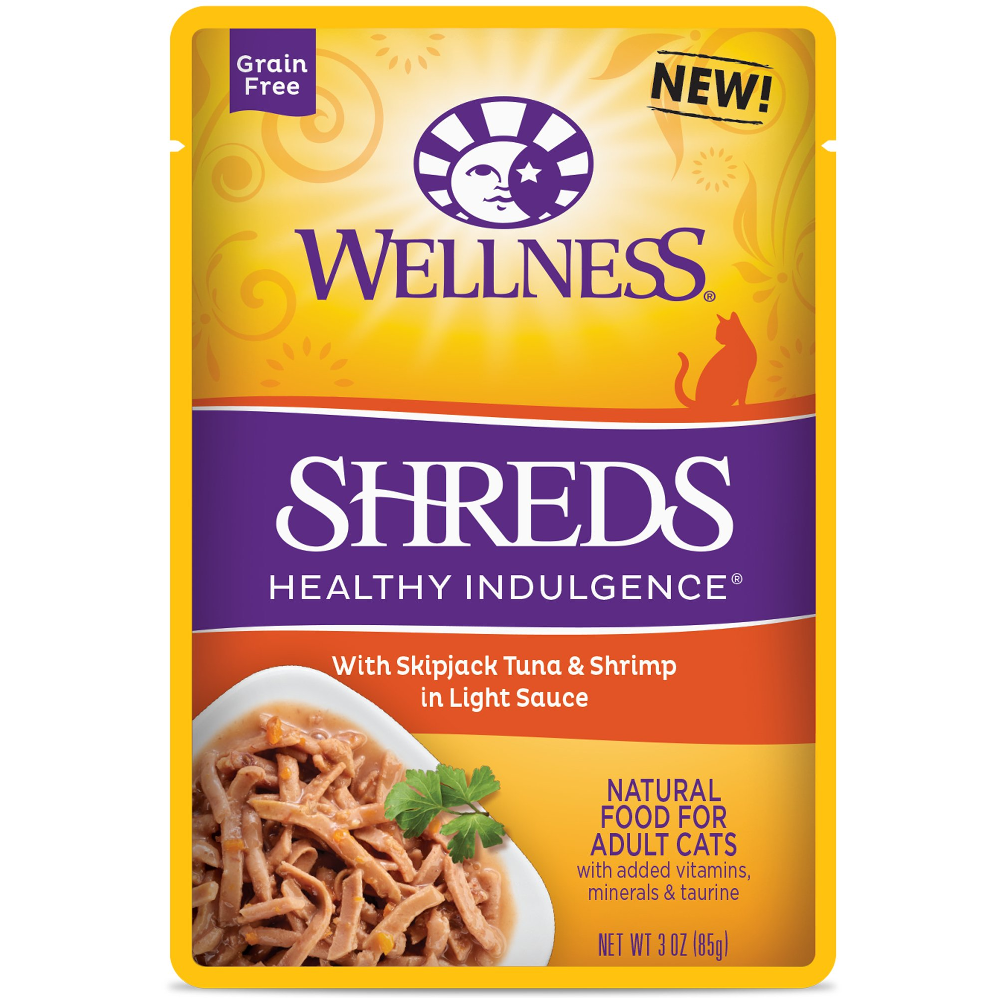 Wellness Healthy Indulgence SHREDS TUNA SHRIMP 3Z 12 Count Case