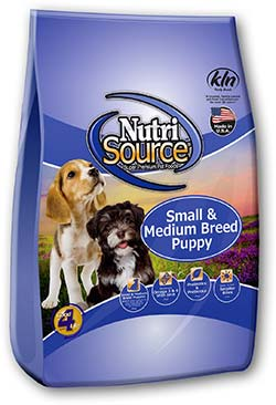 Nutri Source Chicken and Rice Formula Dry Small Breed Puppy Dog Food 6lb