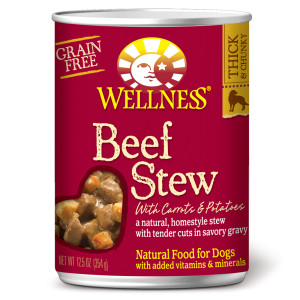 Wellness Beef Stew 12.5oz Canned Dog Food, Case of 12