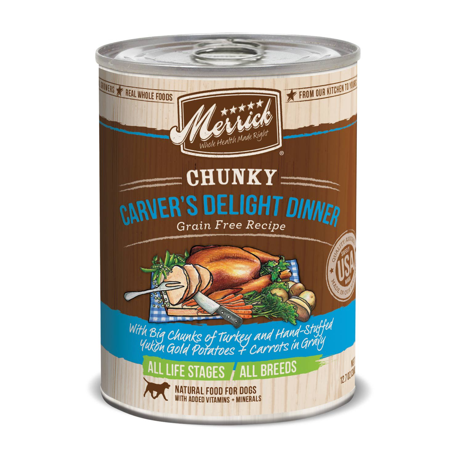 Merrick Chunky Carvers Delight Dinner 12.8oz 12 Count Case