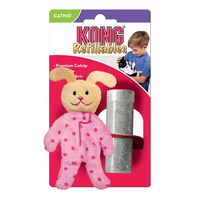 Kong Refillable Catnip Toy Pajama Buddy