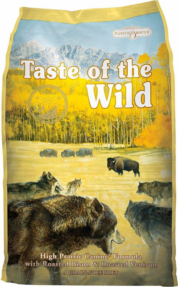Taste of the Wild High Prairie Grain-Free Roasted Bison & Venison Dry Dog Food, 28 lbs