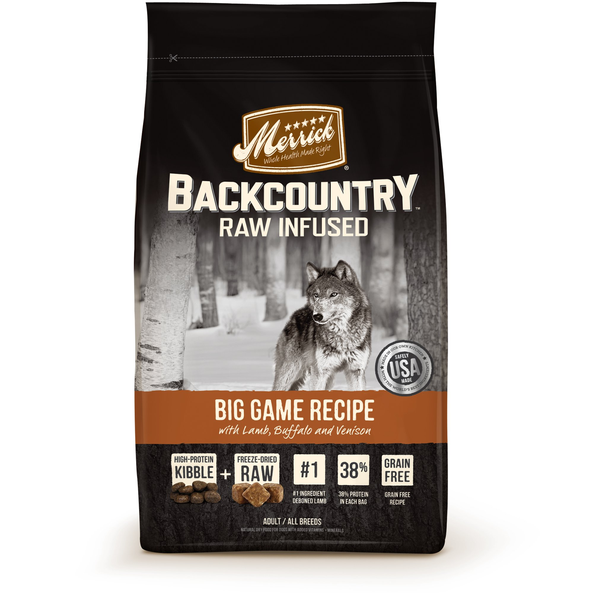 Merrick Backcountry Grain Free Raw Infused Game Bird 22lb