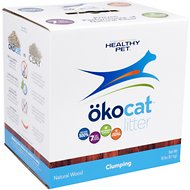 Okocat Natural Wood Clumping Cat Litter 12 Lb