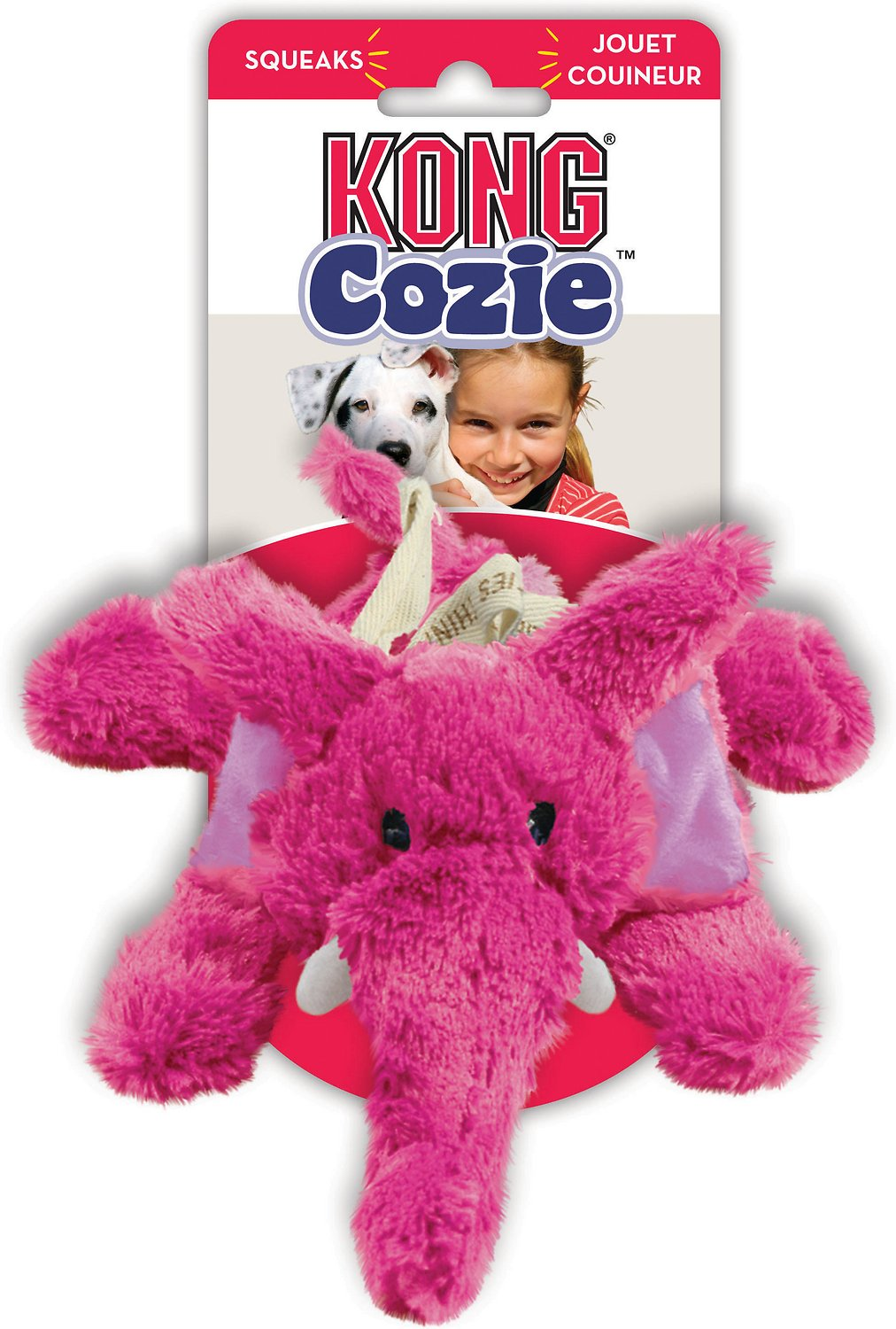 Kong Cozie Elmer Elephant Dog Toy Medium