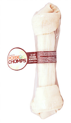 Pork Chomps Natural Knot Bone 11-12in