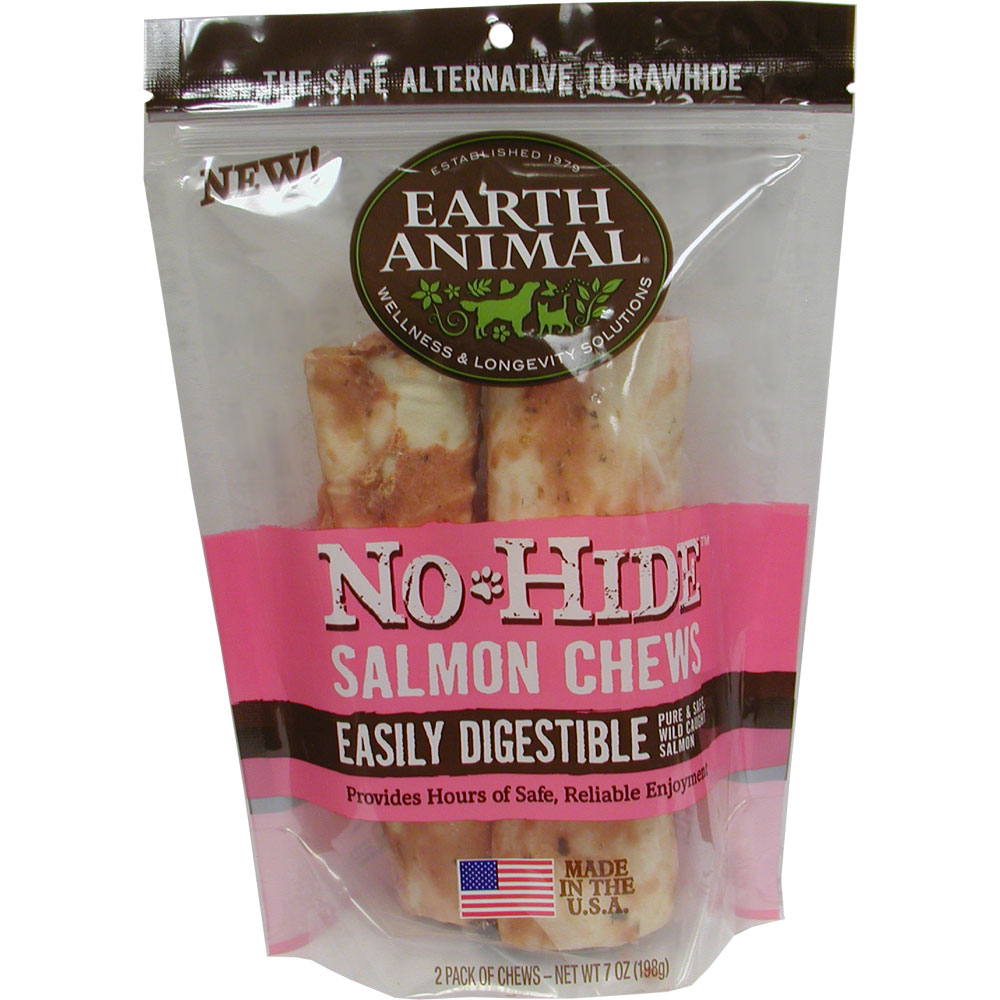 Earth Animal No Hide 7 inches Salmon Dog Chew 2ct