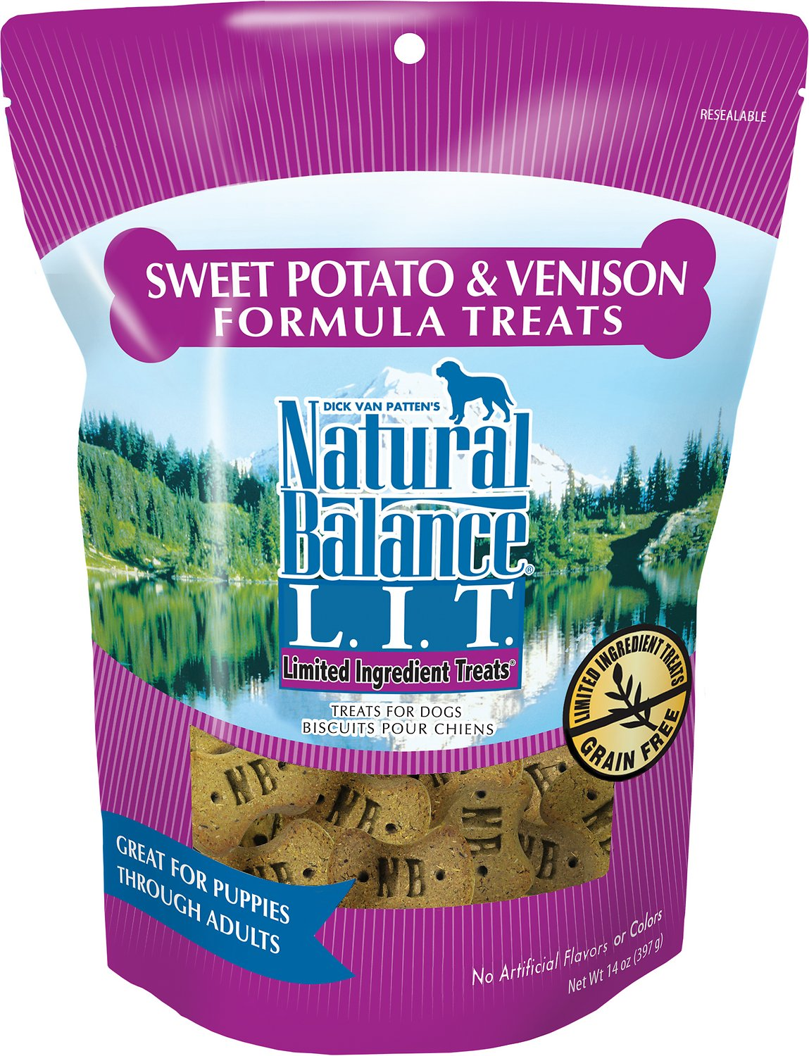 Natural Balance Limited Ingredient Sweet Potato & Venison Formula Dog Treats 14oz