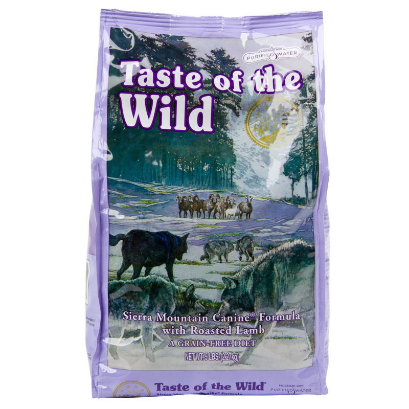 Taste of the Wild Sierra Mountain Grain-Free Roasted Lamb Dry Dog Food, 28 lbs