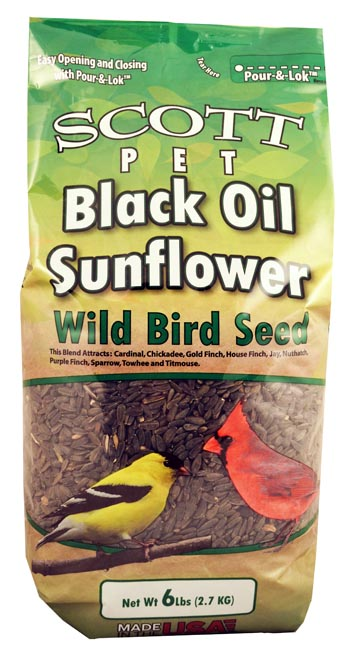 Scott Pet Black Oil Sunflower 6 lb Bag