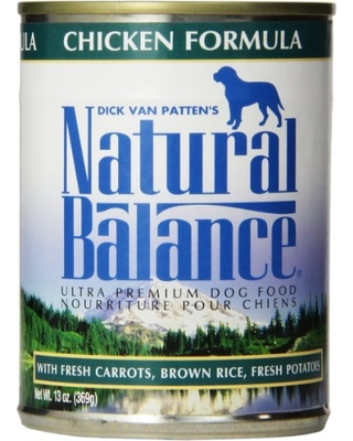 Natural Balance Chicken Formula 13oz 12 Count Case