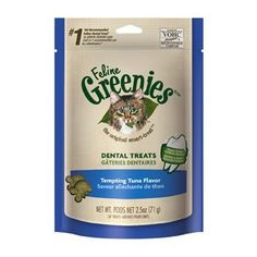 Greenies Feline Dental Treats Tempting Tuna 2.5 oz.
