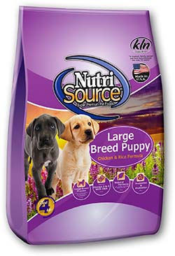 Nutri Source Chicken and Rice Large Breed Puppy Dog Food 30lb