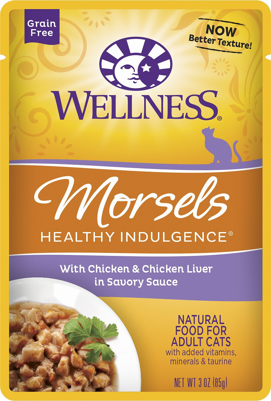 Wellness Healthy Indulgence MORSELS CHKN LIVER 3Z 12 Count Case