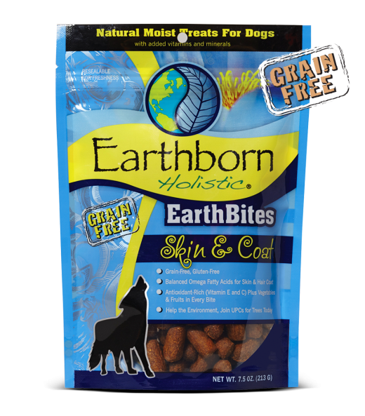 Earthborn EarthBites Skin and Coat Treats 7.2oz