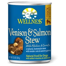 Wellness Venison and Salmon Stew 12.5oz Canned Dog Food, Case of 12