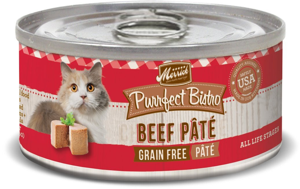 Merrick Beef Pate Cat 5.5oz 24 Count Case