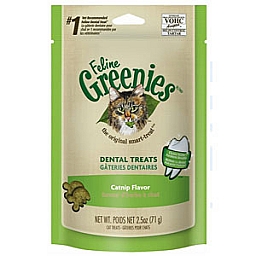 Greenies Feline Dental Treats Catnip Flavor 2.5 oz