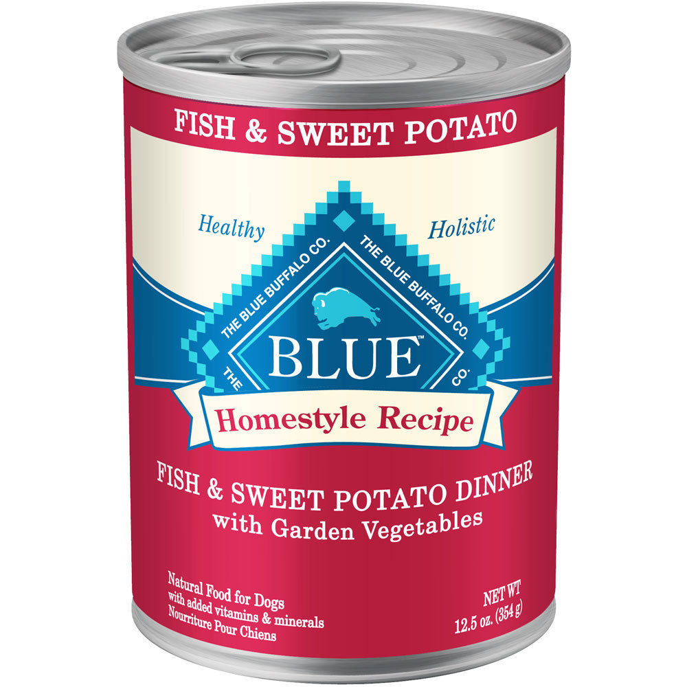 Blue Buffalo Fish & Sweet Potato 12.5OZ 12 Count Case