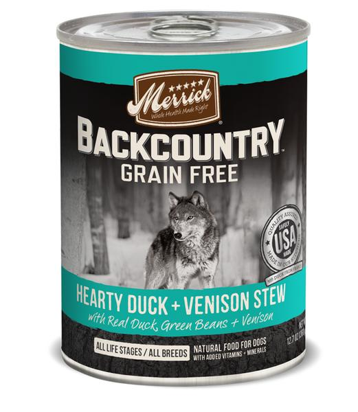 Merrick Backcountry Hearty Duck & Venison Stew 12.8oz 12 Count Case