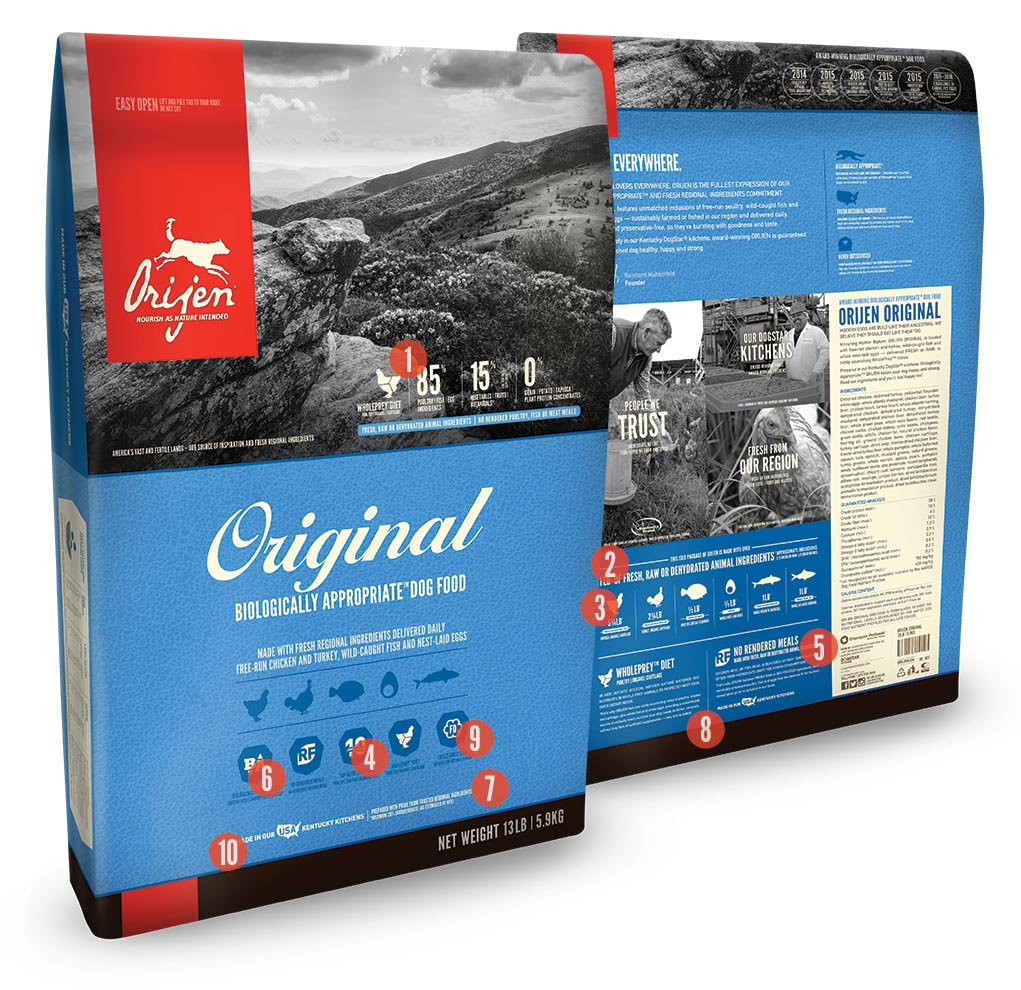 Orijen Original Formula Dry Dog Food 25lb